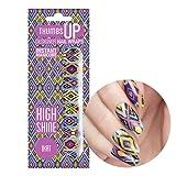 ThumbsUp Nails Ikat Colourful Festival Nail Wraps / Self-adhesive / Nail Foil Polish Strips / Full Coverage Nail Art Stickers / 20 Wraps Per Pack