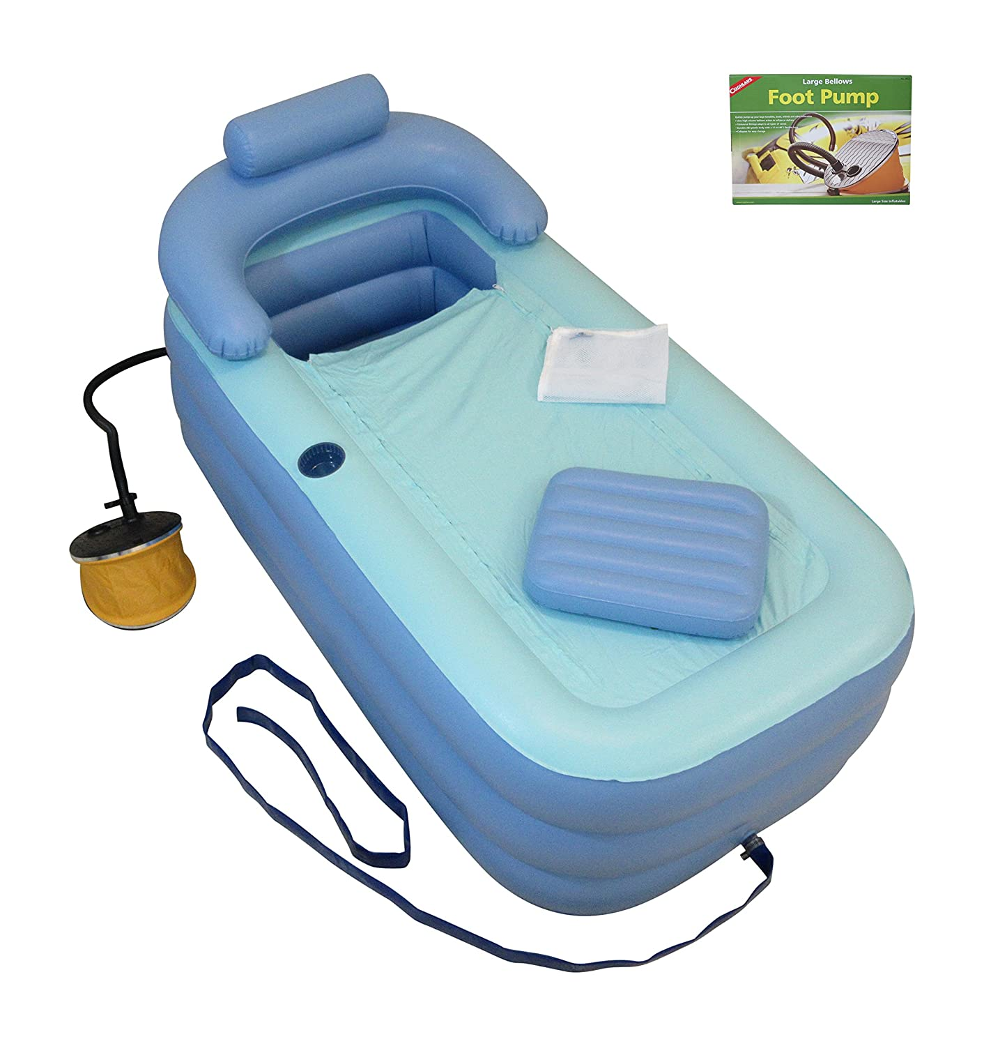Amazon.com: Inflatable Bath Tub Adult - Bathtub Upgraded Pump X-long ...