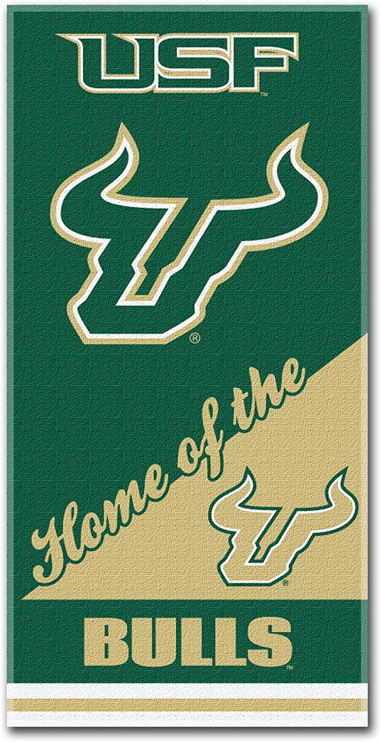 Multi Color Officially Licensed NCAA Home Style Beach Towel 30 x 60