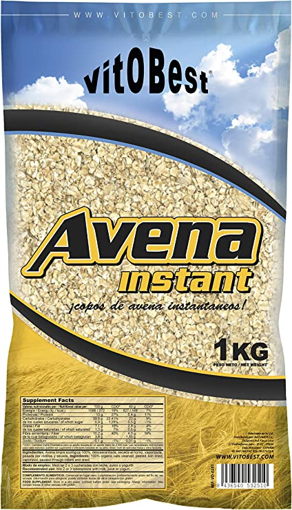 AVENA INSTANT 1 kg - Suplementos Alimentación y Suplementos Deportivos - Vitobest: Amazon.es: Salud y cuidado personal