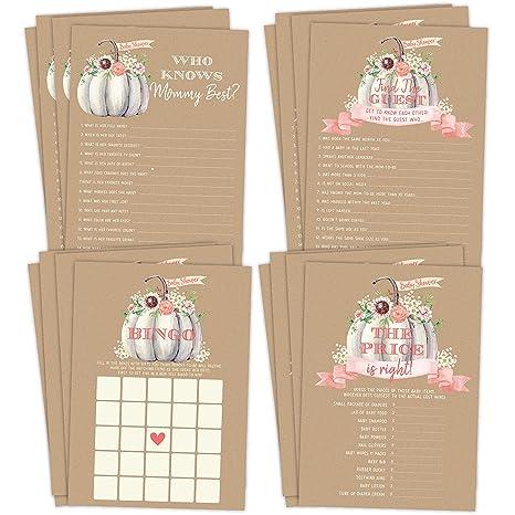 Little Pumpkin 24 Baby Shower Scratch Off Game Cards