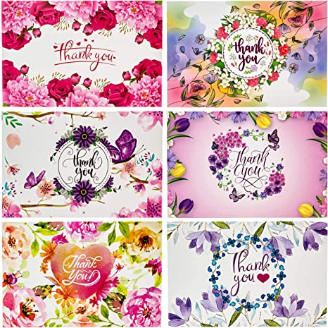 Amazon.com: Tarjeta de agradecimiento con sobres para bodas ...