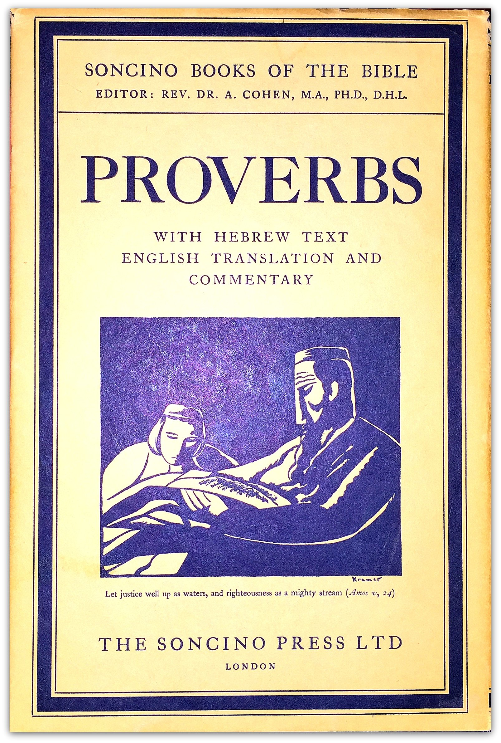 Proverbs, The Soncino Books of the Bible  Hebrew Text and English