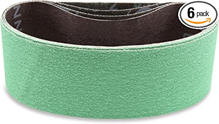 2 1//2 X 14 Inch 80 Grit Metal Grinding Ceramic Sanding Belts Long Life 6 Pack