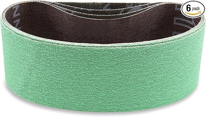 3 X 132 Inch 40 Grit Metal Grinding Ceramic Sanding Belts Extra Long Life 4 Pack