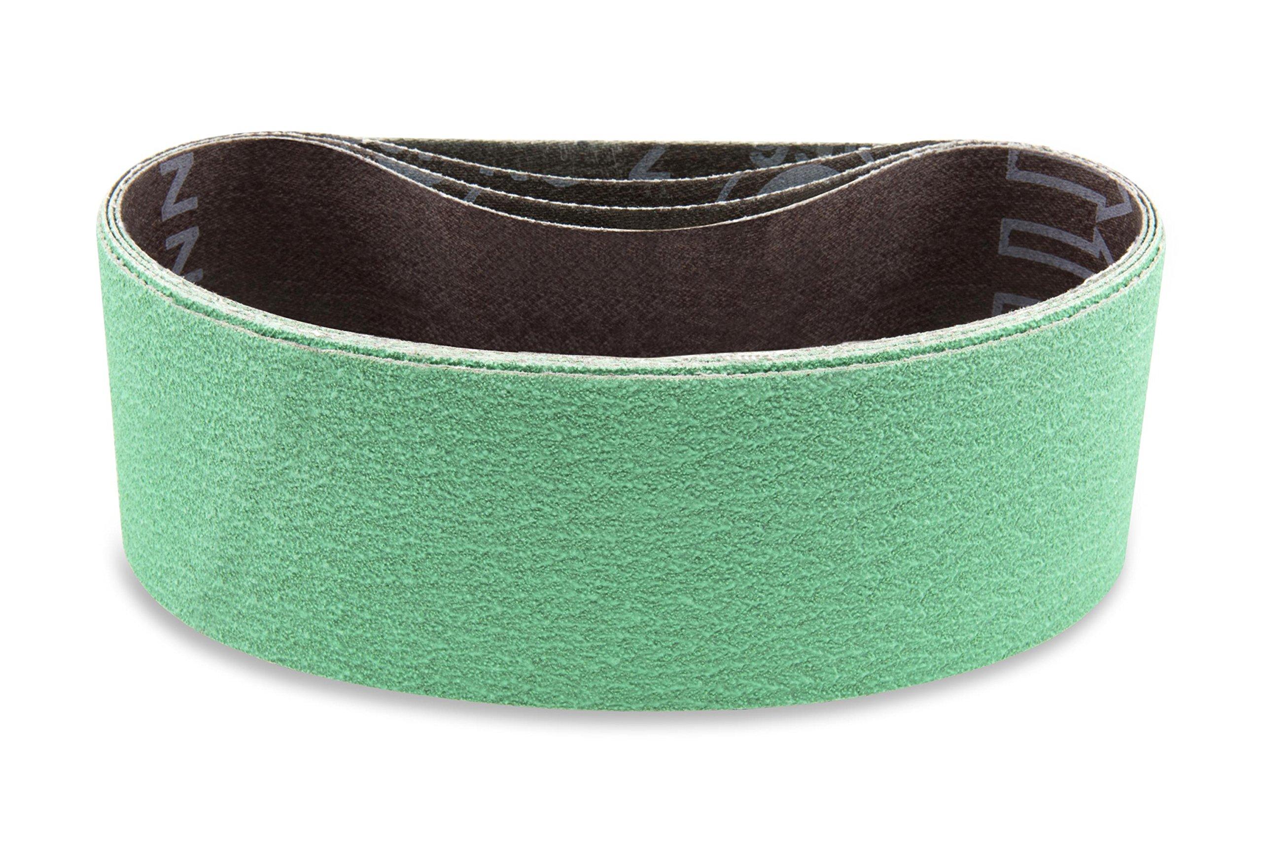 2 1/2 X 16 Inch 80 Grit Metal Grinding Ceramic Sanding Belts, Extra Long Life, 6 Pack