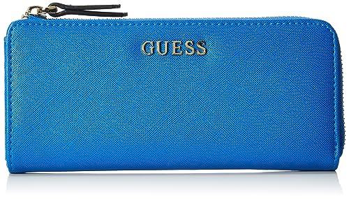 Guess SWSISS-P6293-BLU, Monedero para Mujer, Azul (BLU), 10 cm