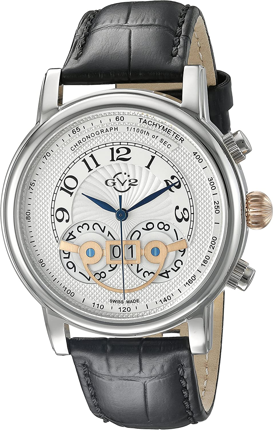 GV2 by Gevril Men s 8100 Montreux Analog Display Watch