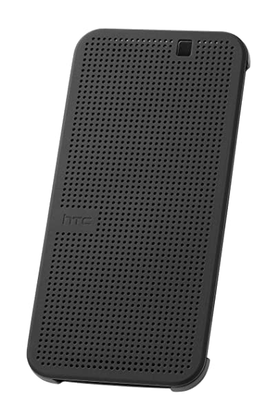 HTC Dot View Premium Hülle Case Cover für HTC One M9 - Onyx Black