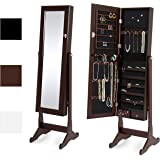 Amazon Com Espresso Dark Brown Mirrored Jewelry Cabinet