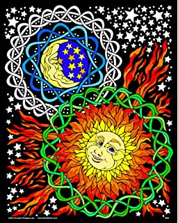 sun and moon 16x20 fuzzy velvet coloring poster