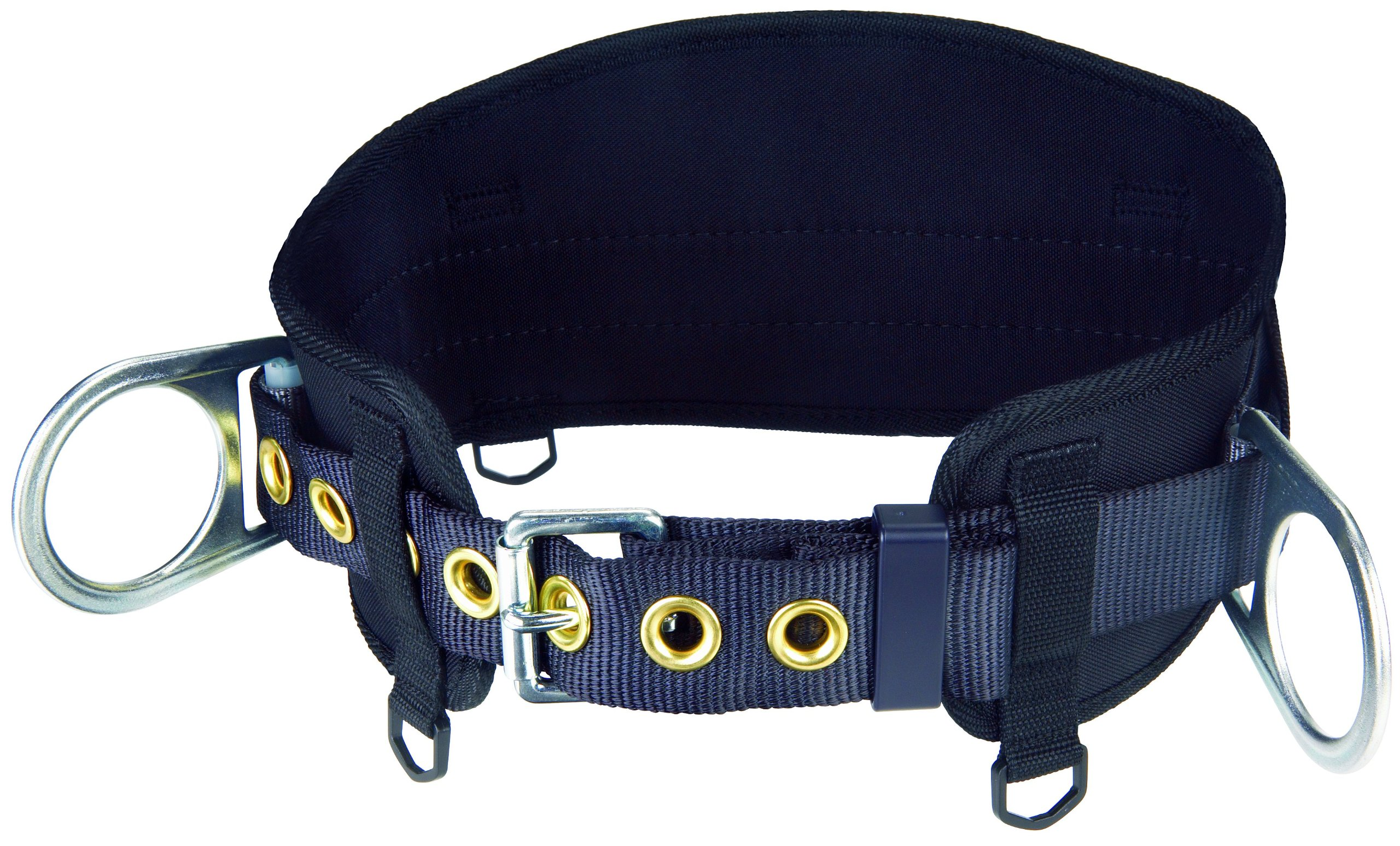 3M Protecta PRO 1091015 Body Belt with Hip Pad, 2 D-Rings, X-Large, Black