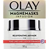 Olay Magnemasks Infusion Rejuvenating Jar Mask for Fine Lines and Lack of Firmness, with Anti-ageing formula, 50 grams