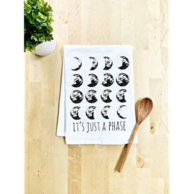 It's Just A Phase, Moon ~ Funny Kitchen Cloth ~ Funny Dish Towel ~ (White or Gray)