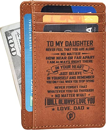 Custom Mens Leather Wallet Key Card Bag Long Money Bag For father for husband color,size
