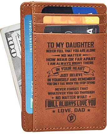 Engraved Father Daughter Gift Wallet