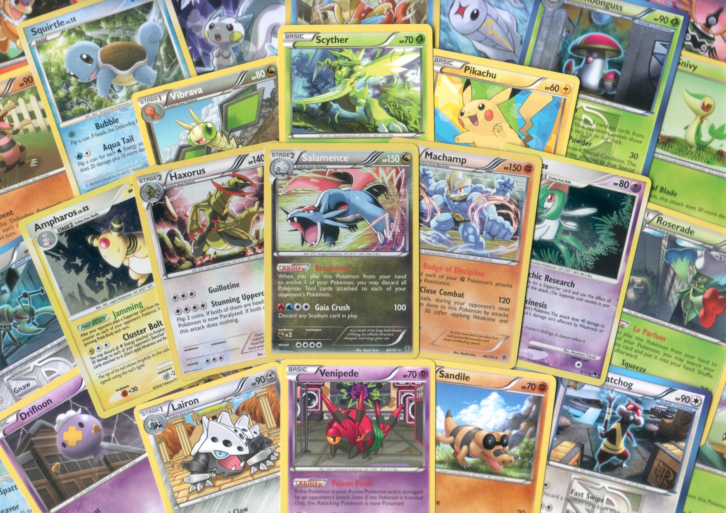 250 Assorted Pokemon Cards with Rares & Foils