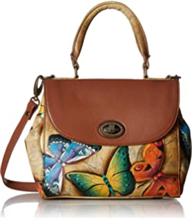 Amazon.com  Anuschka Women s Genuine Leather Zip Around Convertible ... 25d992c357