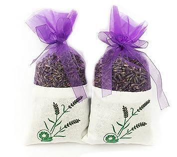 Bio Lavender de Francia - Lavanda Pura Seca - 2 Bolsas de ...