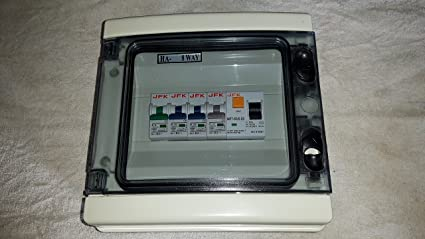 garage consumer unit ip65 4 way fuse box fitted with rcd 63amp 30maRcd Fuse Box What Is #19
