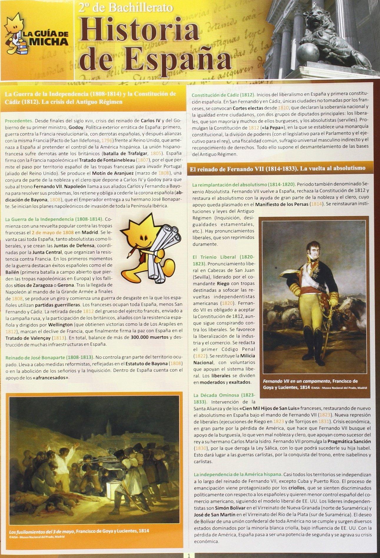 La Guía de Micha: Historia de España, 2º de Bachillerato Guia De Micha: Amazon.es: Carlos Manuel Vera Yagüe: Libros