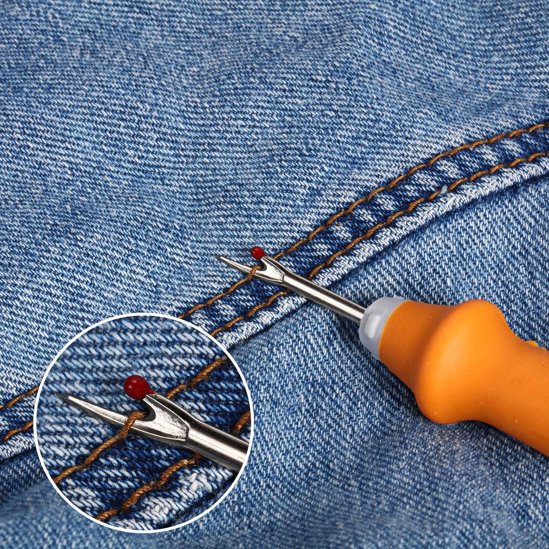 Rojo, Azul Marino, Naranja 3 Abridor de Costura Ergon/ómico Desgarrador de Puntadas Pr/áctico Herramienta Quitar Hilos y 1 Tijeras de Hilo para Costura//Artesan/ía Abrir Costuras y Dobladillos