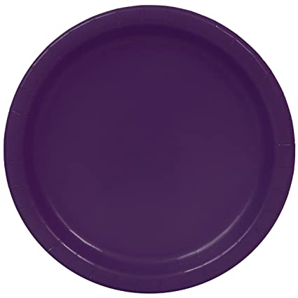 Dark Purple Paper Plates 25ct  sc 1 st  Amazon.com & Amazon.com: Dark Purple Paper Plates 25ct: Kitchen u0026 Dining