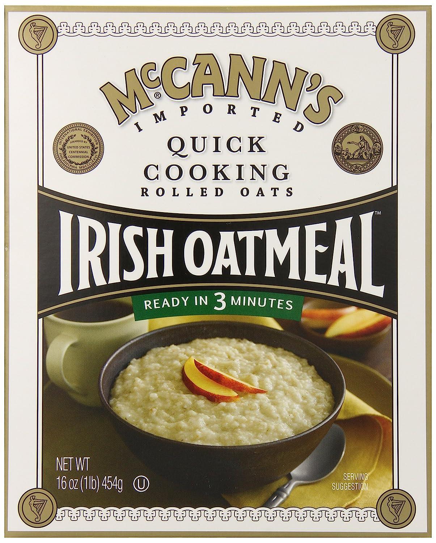 McCanns - Avena rodada que cocina rápida de la harina de avena irlandesa - 16 oz.: Amazon.es: Salud y cuidado personal