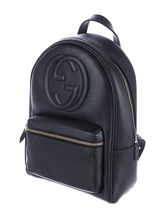 df9a30f4f21 Amazon.com  Gucci Soho Black Backpack Calf Leather Backpack Ladies Bag  Italy New   Shoes