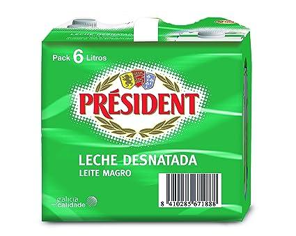 President - Leche Entera - Pack 6 x 1 L - Total: 6 L: Amazon.es: Alimentación y bebidas