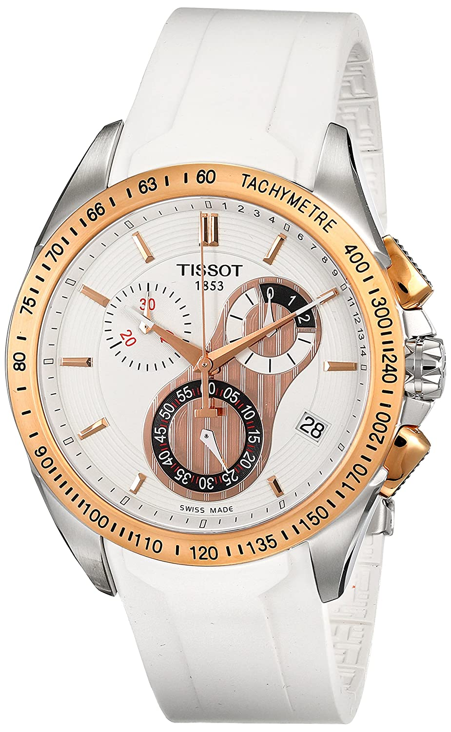 Tissot Men s T0244172701100 T-Sport Racing Chronograph White Dial Watch