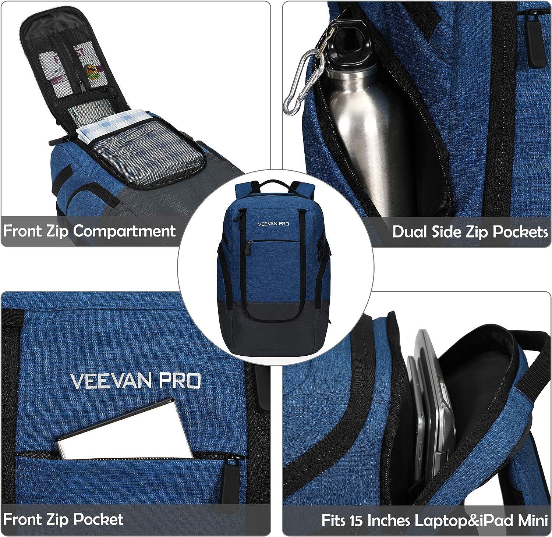Veevanpro 22L Cooler Backpack 24 Cans Cooler Bag Bolsa de Almuerzo Grande Mochila Impermeable con 15 Pulgadas Compartimiento para computadora port/átil para el Trabajo Camping Picnic BBQ Beige