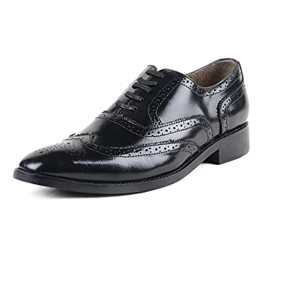 47a91edf765 Cordonnier Black wingtip Oxford Brogues-Size 10 Men s Leather Shoes