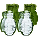 Skaxi 3D Grenade Silicone Mold, Monster-Sized Ice Cube Mold, Set of 2