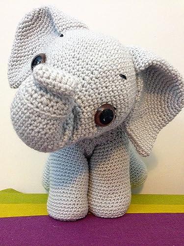 Crochet Elephant Amigurumi Free Pattern with Video | Patrones ... | 500x375