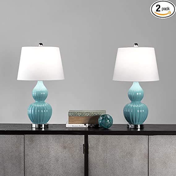 Nuloom Towson 25 Ceramic Table Lamp Set