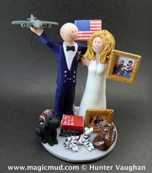 Amazon Air Force Wedding Cake Topper