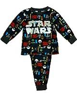Boys Official Star Wars Logo Darth Vader Jedi Fleece Twosie Pyjamas sizes from 2 to 8 Years