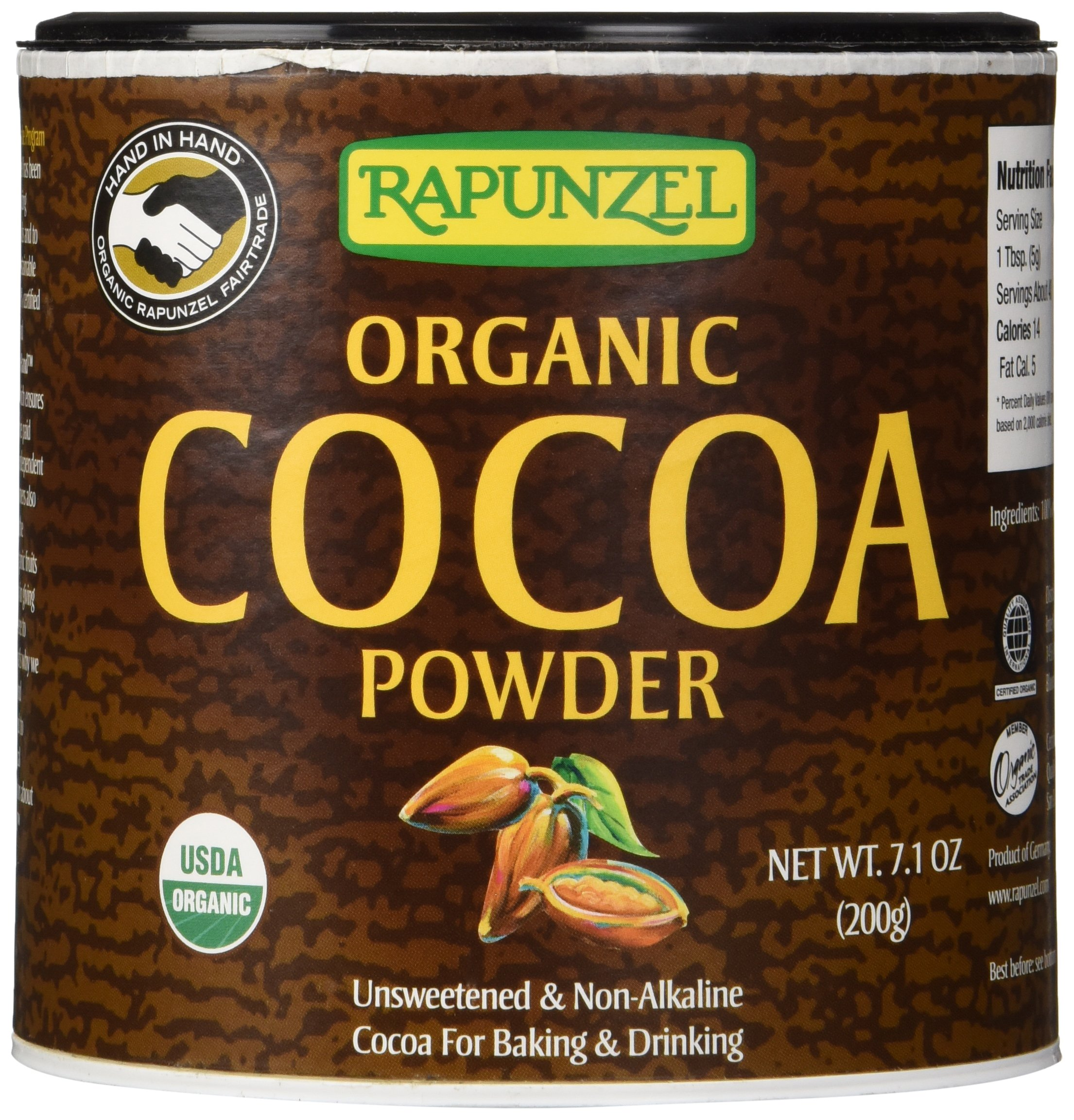 Rapunzel Pure Organic Cocoa Powder, 7.1 oz