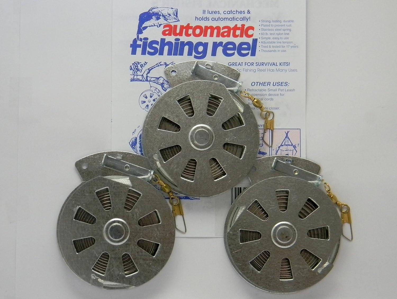3 Mechanical Fisher s Yo Yo Fishing Reels -Package of 3 Reels- Yoyo Fish Trap – FLAT TRIGGER MODEL