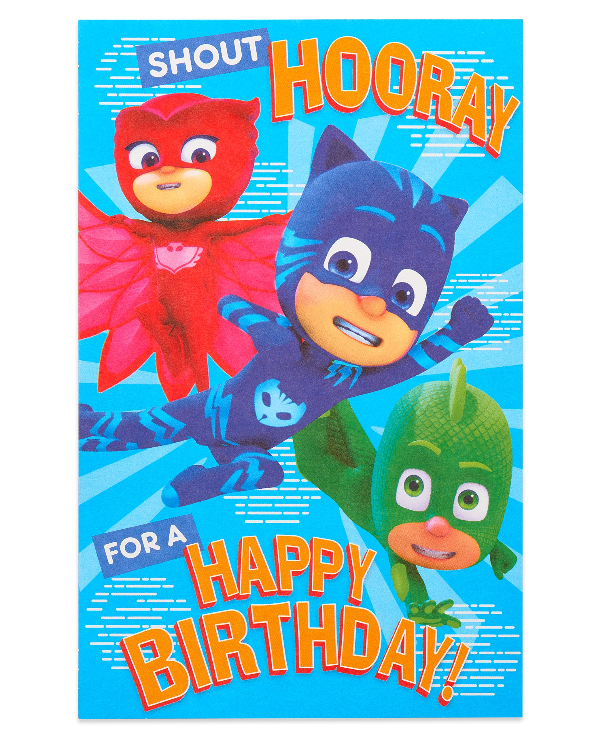 Tag /& Card PJ Masks Birthday Pack Wrap