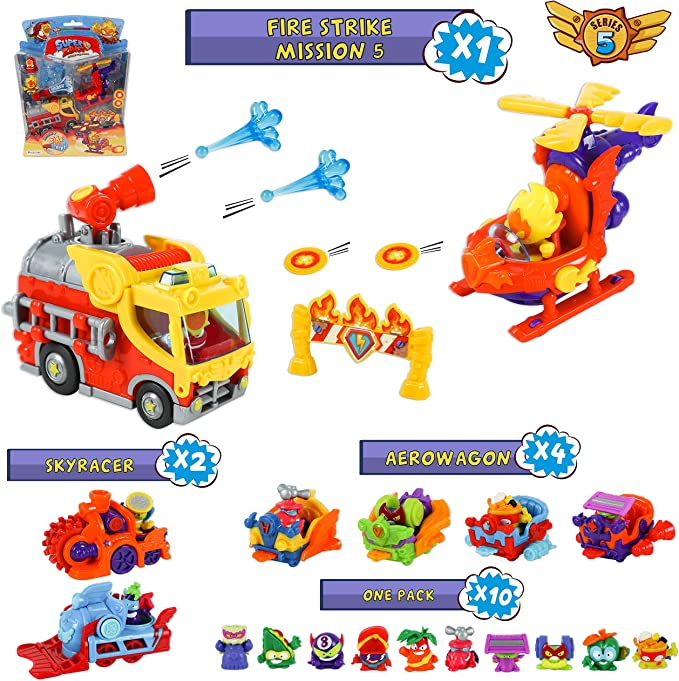 SuperZings Serie 5 – Fire Strike Mission 5 y Pack Sorpresa con 16 ...
