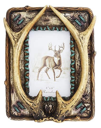 Amazon.com - Joy of Giving Decorative Deer Antlers Picture Frame ...
