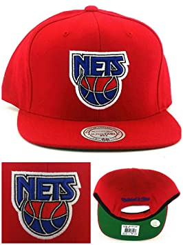 online retailer 26068 f2f88 New Jersey Nets New Brooklyn Mitchell & Ness Retro Red Blue ...
