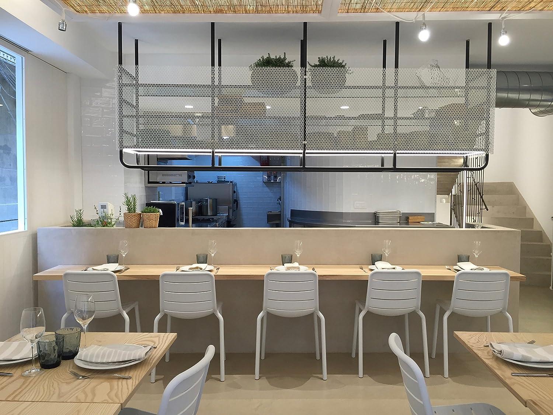 resol grupo Gina Set de 2 sillas de diseño para interior, exterior, jardín, Rojo, 52 x 52,3 x 80,5 cm Blanco qulOMl