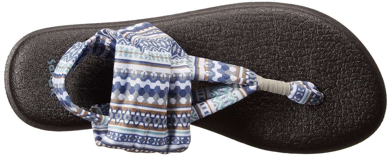 Sanuk Damen Yoga Sling#2 Prints Blanket Zehentrenner, Lead Grau Lanai Blanket Prints 7301d3