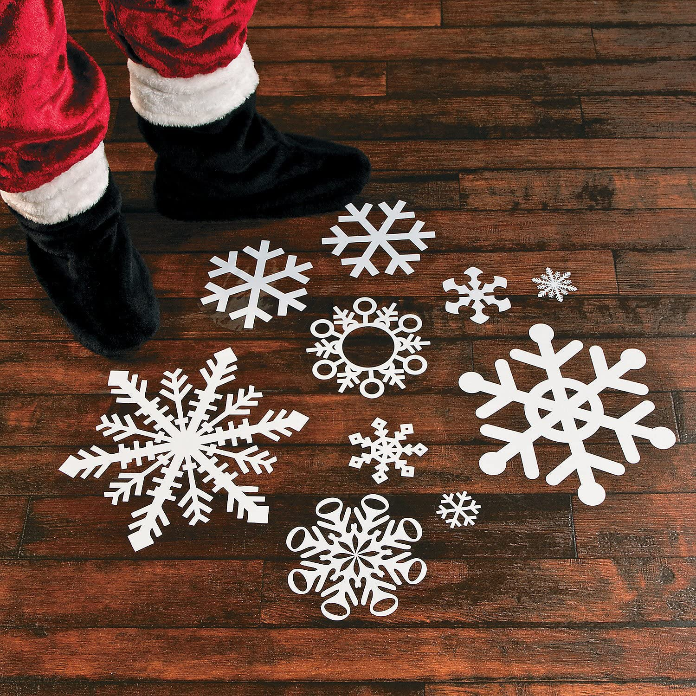 Fun Express Winter Snowflake Floor Decals (Set of 12 Floor clings)
