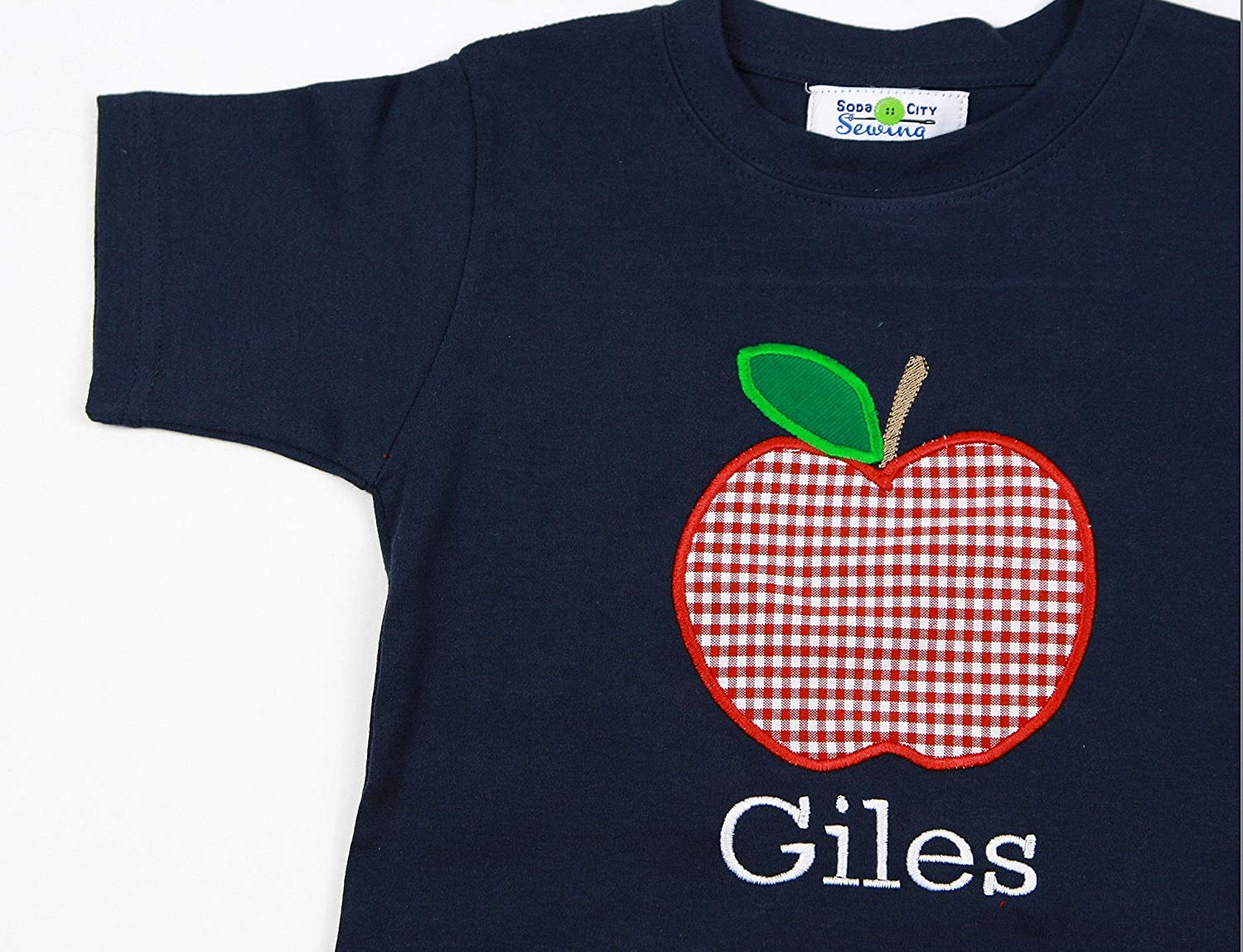Toddler Boy Custom Apple School Clothes Back To School Boy Apple Short Set Boy School Clothing Boy Personalized Apple Shirt and Short