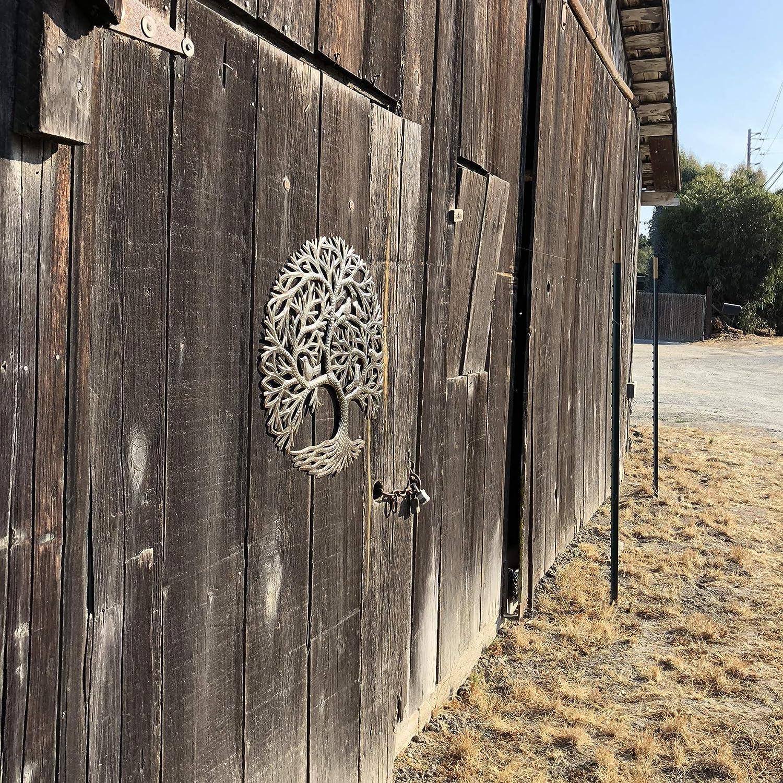 en Int/érieur et en ext/érieur D/écoration Murale 58,4/cm. its cactus Art en M/étal metal art haiti Arbre de Vie avec Oiseaux Jardin