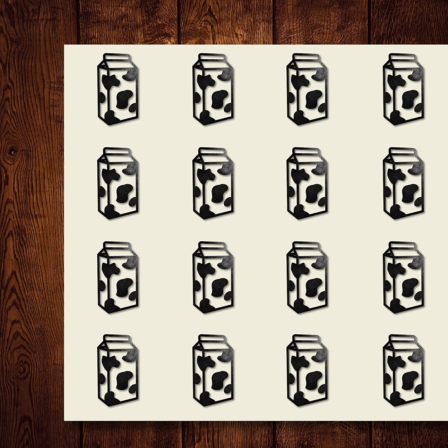 Milk Beverage Drink Dairy Carton Craft Stickers, 30 Stickers at 1.5 inches, Great Shapes for Scrapbook, Party, Seals, DIY Projects, Item 247146